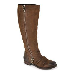 Steve Madden brown zipper boot